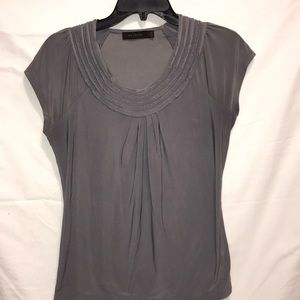 Limited Pleated Crew Neck Blouse
